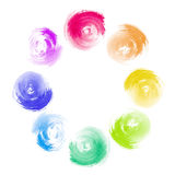 Abstract Rainbow Paint Swirl Diversity Concept Royalty Free Stock Photo