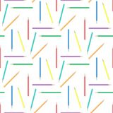 Abstract rainbow pensils seamless background Royalty Free Stock Photography