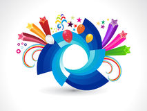 Abstract rainbow rounded explode circle Stock Photo