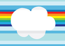 Abstract rainbow in the sky. Illustration of abstract rainbow in the sky, cartoon Stock Photos