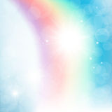 Abstract rainbow in the sky Royalty Free Stock Photos