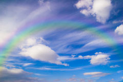 Abstract rainbow on the sky Stock Images
