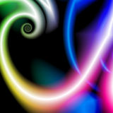 Abstract rainbow small spiral Royalty Free Stock Photo