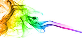 Abstract rainbow smoke Stock Photos