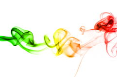 Abstract rainbow smoke Royalty Free Stock Photography
