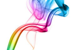 Abstract rainbow smoke background Royalty Free Stock Photo