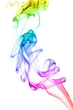 Abstract rainbow smoke background Stock Images