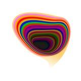 Abstract rainbow speech bubble background Stock Photo