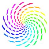 Abstract Rainbow Spiral Royalty Free Stock Photography