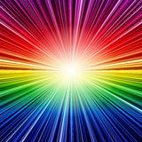 Abstract rainbow striped burst background Royalty Free Stock Photo