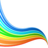 Abstract rainbow striped wave. Background Stock Image