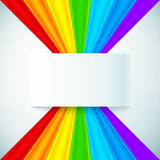 Abstract rainbow stripes with paper label. Vector background Royalty Free Stock Photography