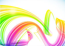 Abstract rainbow stripes vector shining background Stock Photography