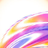 Abstract rainbow stripes vector shining background Stock Image