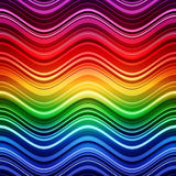 Abstract rainbow stripes waves colorful background Royalty Free Stock Images