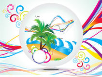 Abstract rainbow summer holiday background Stock Photo