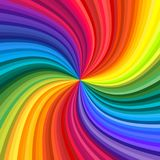 Abstract rainbow swirl. Background of vivid rainbow colored swirl twisting towards center. Vector illustration vector illustration