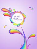 Abstract rainbow swirl flower background Stock Photo