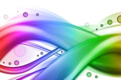 Abstract Rainbow Swirl Wave Background Stock Image