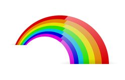 Abstract rainbow symbol Stock Image