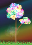 Abstract Rainbow Tree_ai Royalty Free Stock Images