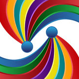 Abstract rainbow Stock Images