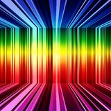 Abstract rainbow warped stripes background Stock Image