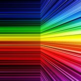 Abstract rainbow warped stripes background Royalty Free Stock Photography