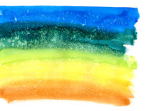 Abstract Rainbow Watercolor Background Stock Image