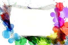 Abstract rainbow watercolor frame Royalty Free Stock Photos
