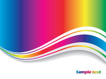 Abstract rainbow with wave Stock Photo