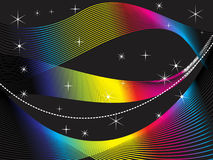 Abstract rainbow wave background. Abstract rainbow wave insolated on black background vector illustration Stock Image