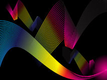 Abstract rainbow wave background. Abstract rainbow wave insolated on black background vector illustration Royalty Free Stock Photography