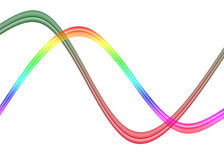 Abstract rainbow wave background Stock Image