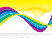 Abstract rainbow wave background Stock Photography