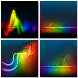 Abstract rainbow wave background Royalty Free Stock Image