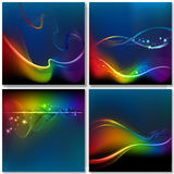Abstract rainbow wave background Royalty Free Stock Photo