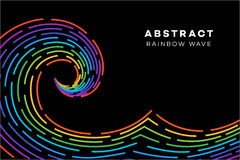 Abstract Rainbow Wave. Conceptual Vector Illustration. Abstract Rainbow Wave On The Black Background. Conceptual Vector Illustration Vector Illustration