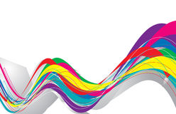 Abstract rainbow wave line. With sample text background,vector illustration Stock Photography