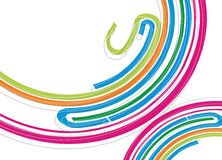 Abstract rainbow wave line. With sample text background, vector illustration Stock Photo