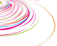 Abstract rainbow wave line. With sample text background, vector illustration Stock Images