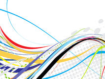 Abstract rainbow wave line. With space of your text, vector illustration Royalty Free Stock Photography