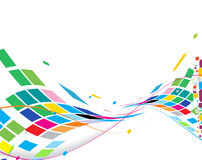 Abstract rainbow wave line. With space of your text, vector illustration Vector Illustration