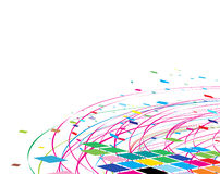 Abstract rainbow wave line. With space of your text, vector illustration Stock Images