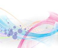 Abstract rainbow wave line Stock Photos