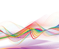 Abstract rainbow wave line Stock Image