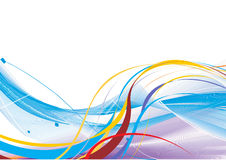Abstract rainbow wave line. With space of your text, vector illustration Stock Photo