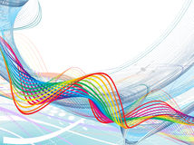 Abstract rainbow wave line. With space of your text, vector illustration Royalty Free Stock Image