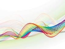 Abstract rainbow wave line Stock Photo