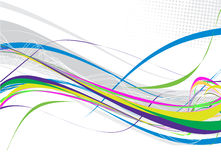 Abstract rainbow wave line. With space of your text, vector illustration Royalty Free Stock Photos
